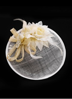 Charming/Luxurious Net Yarn/Silk Flower/Satin/Cambric Fascinators
