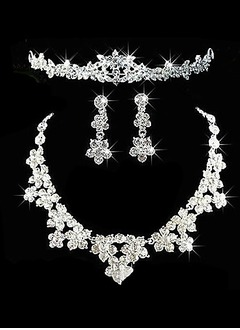 Gorgeous Alloy With Rhinestone Ladies' Jewelry Sets (01105010646)