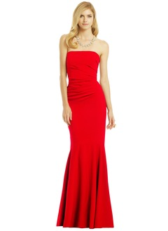 Trumpet/Mermaid Strapless Floor-Length Jersey Prom Dress With Ruffle