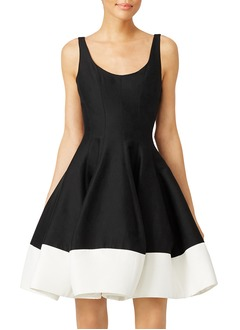 A-Line/Princess Scoop Neck Short/Mini Satin Homecoming Dress With Ruffle