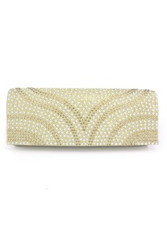 Charming Silk With Beading Clutches