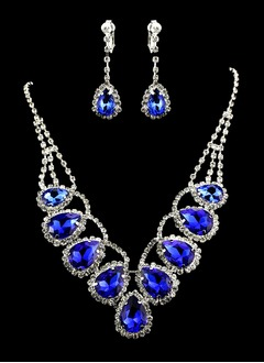 Gorgeous Alloy/Rhinestones Ladies' Jewelry Sets (01105010290)