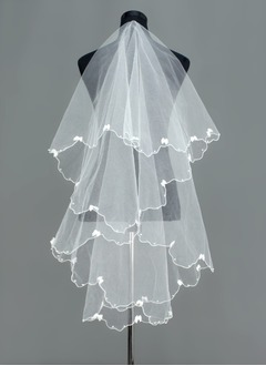 One-tier Waltz Bridal Veils With Scalloped Edge (00605003677)