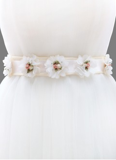 Ribbon 87inch(220cm) With Flower Rhinestone Sashes