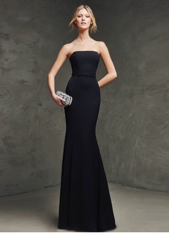 Trumpet/Mermaid Strapless Sweep Train Chiffon Evening Dress