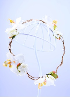 Beautiful/Simple Silk Flower/Rattan Straw Hair Jewelry