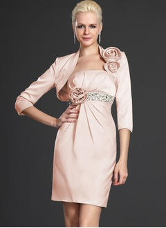 3/4-Length Sleeve Satin Special Occasion Wrap