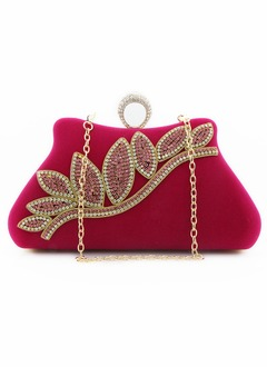 Velvet With Crystal/ Rhinestone Clutches