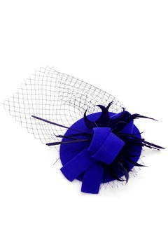 Elegant/Fören Netto garn/Fjäder/Wool Fascinators