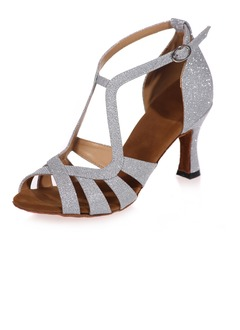 Women's Leatherette Heels Sandals Latin Dance Shoes  ...
