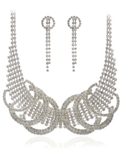 Fashional Alloy With Crystal Ladies' Jewelry Sets
