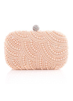 Magnifique Polyester/Pearl avec Pearl/Strass Pochettes