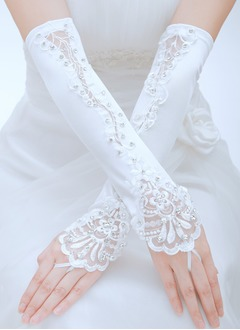 Silk Opera Length Bridal Gloves