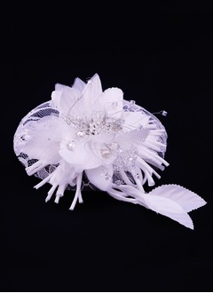 Gorgeous/Glamourous Rhinestone/Silk Flower/Cambric Fascinators