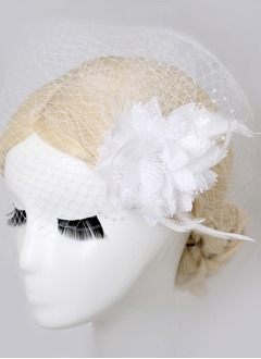 Gorgeous Feather/Tulle Birdcage Veils