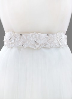 Ribbon 98inch(250cm) With Lace Rhinestone Sashes