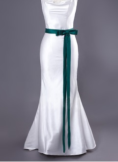 Satin Ankle-Length With Bow Sashes