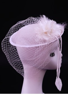 Gorgeous/Glamourous Net Yarn/Silk Flower/Cambric Fascinators