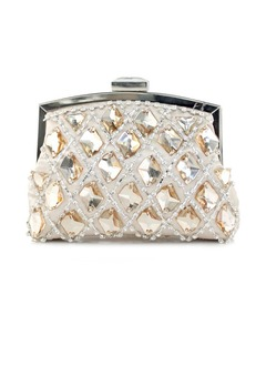 Gorgeous Satin With Crystal/ Rhinestone Clutches