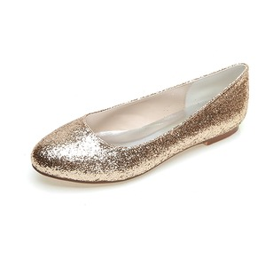 Women's Sparkling Glitter Closed Toe Flats