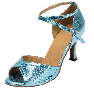 Women's Heels Latin With Ankle Strap Dance Shoes (0535119586)