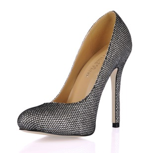 Pailletes scintillantes Talon stiletto Escarpins Bout fermé chaussures