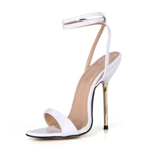 Patent Leather Stiletto Heel Sandals Slingbacks With Buckle shoes (0875100489)