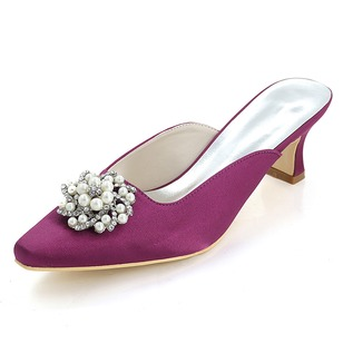 Women's Silk Like Satin Others Pumps With Flower