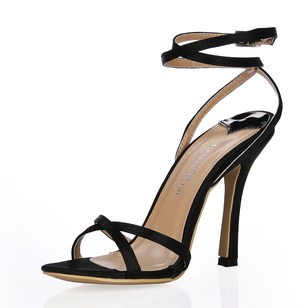 Silk Like Satin Stiletto Heel Sandals Peep Toe shoes