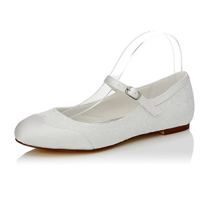 Women's PU Flat Heel Flats With Buckle (0475119276)