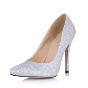 Sparkling Glitter Stiletto Heel Pumps Closed Toe shoes