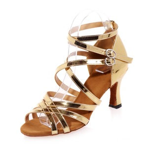 Women's Leatherette Heels Sandals Latin With Ankle Strap Dance Shoes (0535100068)