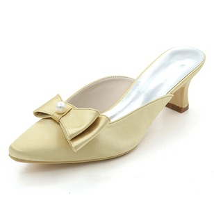 Women's Silk Like Satin Others Pumps With Bowknot