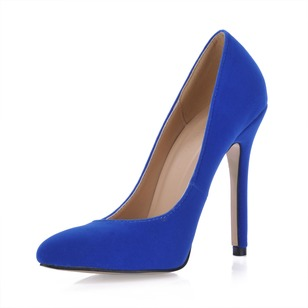 Suede Stiletto Heel Pumps Closed Toe schoenen