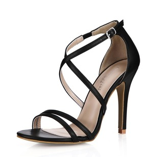 Leatherette Stiletto Heel Sandals shoes