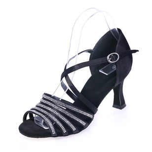 Women's Fabric Heels Sandals Latin With Ankle Strap Dance Shoes (0535100250)
