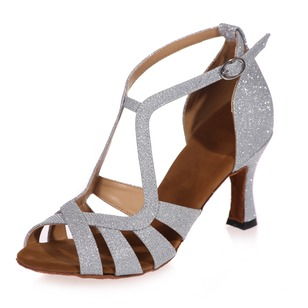 Women's Leatherette Heels Sandals Latin Dance Shoes (0535099815)