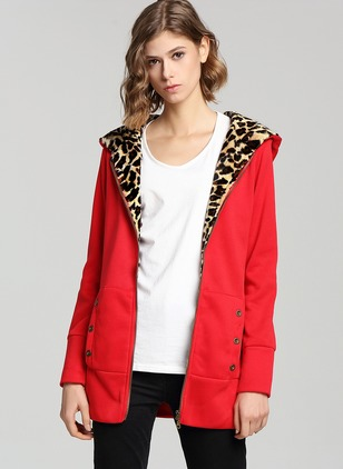 Cotton & Cotton Blend Red Long Long Sleeve Other Coats & Jackets