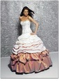 Ball-Gown Sweetheart Floor-Length Taffeta Quinceanera Dress With Ruffle Lace Beading (02105024411)