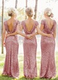 Sheath/Column Scoop Neck Floor-Length Sequined Bridesmaid Dress (0075059181)