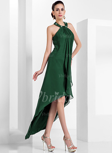 Asymmetrical Chiffon Cocktail Dress