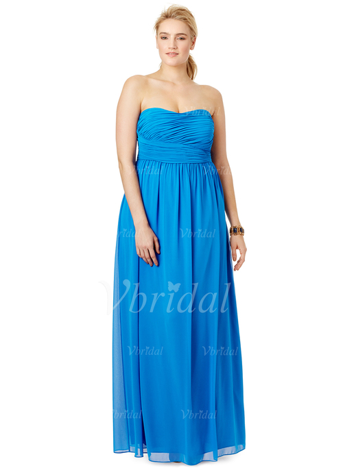 89fe298cbc A-Line Princess Strapless Sweetheart Floor-Length Chiffon Prom Dress With  Ruffle (0185058422)